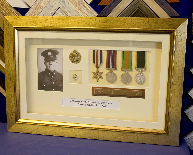 World War 2 Medals Frame