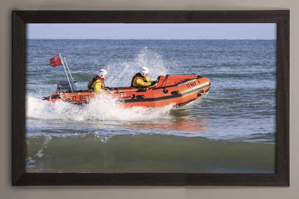 Happisburgh Lifeboats framed canvas prints